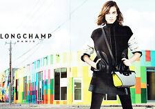 PUBLICITE ADVERTISING 066  2015  Longchamp collection sac (2p)