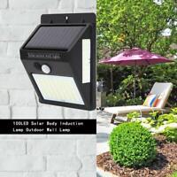 100LED Lampe Solaire Murale Extérieur Jardin avec Détecteur de Mouvement Spots