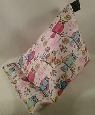 Tablet stand cushion kindle ipad cute owls on vinyl coated fabric xmas gift