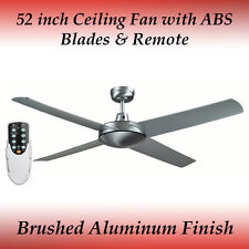Genesis 52 inch Silver Ceiling Fan with ABS Blades and Light and Remote