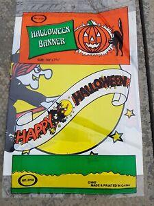 Vintage 1980s  Halloween Banner Decoration MIP old shop stock rare
