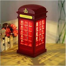 USB /Battery Powered Red London Telephone Booth LED Table Lamp Birthday Gift