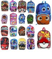"""16"""" Disney Marvel Nickelodeon Large School Backpack with Detachable Lunch Bag"""