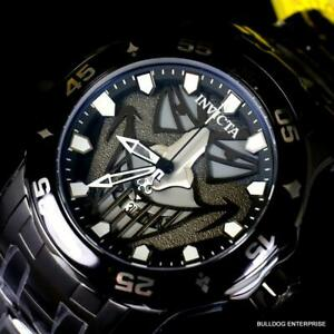 Invicta DC Comics Joker Pro Diver Scuba Black Steel Combat Watch 48mm New