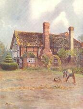 ALFORD. Alfold House Farm. Surrey 1914 antique vintage print picture