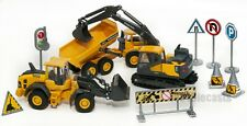 """Volvo Construction Vehicles and Signs Toy Set, NewRay size approx 5"""""""