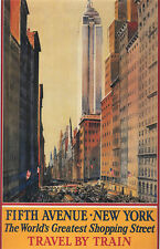 "Vintage ""Fifth Avenue New York"" Travel Poster"