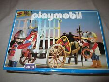 playmobil nr 3674 ridders gevangenis transport neu/new