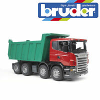 Bruder Scania R-Series Tipper Construction Truck Kids Toy Model Scale 1:16