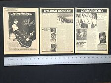 "KISS 1978 Originals 3 - 8.5X11"" Magazine CLIPPINGS"