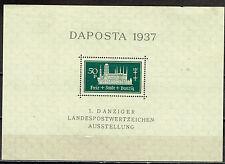 Danzig Germany Famous Castle Stamp Expo Souvenir Sheet 1937 MNH