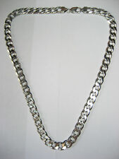 Vintage - Sterling Silver Curb Link Necklace  (Italy) 10 mm x 23.5 mm- 105.88 gm