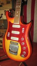 Vintage 1960s Russian Made Aelita Solidbody Electric Guitar Orange Burst