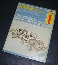1984-1985 AUSTIN MONTEGO 2.0 inc MG/VP HAYNES WORKSHOP MANUAL 1067