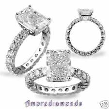 3.02 ct I VS2/SI1 radiant round diamond solitaire engagement ring 18k white gold