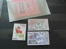 3 x TIMBRES STAMPS BRIEFMARKEN MONACO 1989 : YT 1700 + 1701 + 1702 MNH