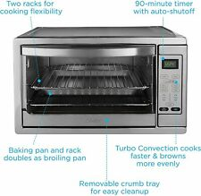 Oster Extra Large Digital Countertop Convection Oven, Stainless Steel (TSSTTVDGX