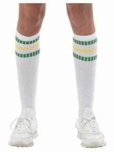 80s Sports Socks Stranger Things Fancy Dress Costume Accessory Eleven Socks