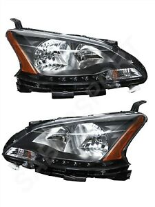 Set of Pair Eagle Eyes OE Style Blackout Headlights for 2013-2015 Nissan Sentra