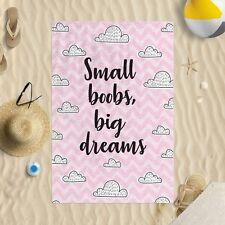 147x99.1cm Pequeño Boobs Grande Dreams Microfibra Toalla Playa Funny Broma De