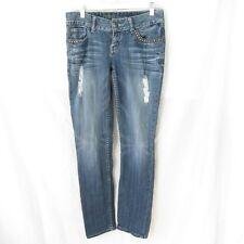 GUESS Daredevil Skinny Leg Womens Jeans 27 Blue Denim 31 Inseam Embellished