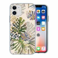 For Apple iPhone 11 Silicone Case Nature Leafs Art Print - S6922