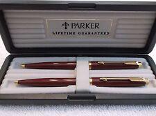 PARKER 75 BURGUNDY LAQUE BALLPOINT PEN & 0.5 PENCIL SET / NEW IN BOX ( 68472 )
