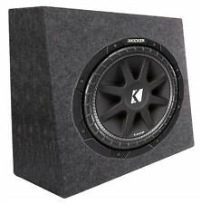 "Kicker Car Audio 12"" Loaded Custom Truck Sub Box Enclosure W/ C12 Subwoofer"