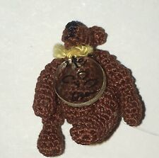 Dollhouse Miniature Teddy Bear Handcrafted Signed 2001 Lisa
