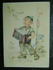 Alte AK , Junge mit Ziehharmonika , LW , (B75)