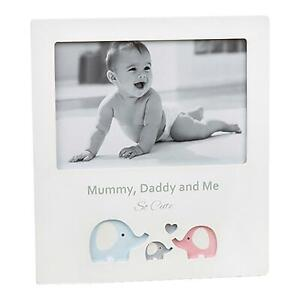 White 6' x 4' Photo Frame with Cut Out Design - Mummy, Daddy and Me