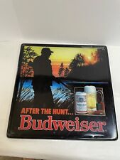 "Vintage Budweiser Beer Light up Sign ""After The Hunt� Hunter Gun *Cover Only"