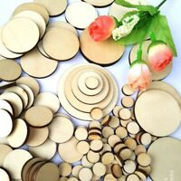 100X Unfinished Wooden Round Discs Embellishments DIYs 1050mm Rustic Craft S2M5