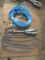 2kg Bruce  boat anchor kit 4m  Of 7mm chain 50m 8mm  Rope Several Colours