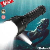 25000Lm T6 LED Scuba Diving Flashlight Torch Light Lamp Underwater Max 100m