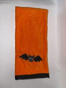 Halloween Black Bat Orange Plush Cotton Bath Hand Towels