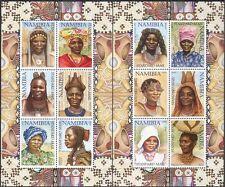 Namibia 2002 Headdresses/Hairstyles/Hair/Costumes INCORRECT 2 x 6v sht n16599b