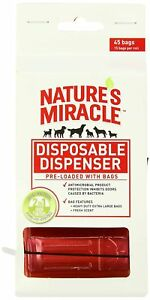 Nature's Miracle NM-5980 45 Count Disposable Waste Bag Dispenser with Pick-Up...