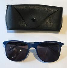 Ray Ban RB3521 Blue Wayfarer Look Sunglasses W New Grey Lenses