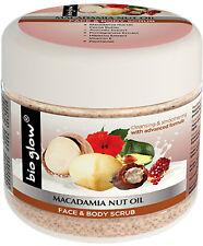 Bio Glow Macadamia Nut Oil Face & Body Scrub 300ml, Cocoa butter, Panthenol