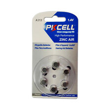 6pcs Zinc Air Hearing Aid Batteries Size 312 A312 1.4V High Performance PKCELL