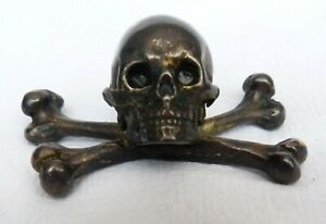 Skull Bone Memento Mori Brass? Bronze? Paperweight?