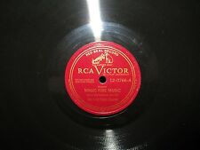 "Wagner Magic Fire Music / Mozart Rondo 12"" 78rpm  RCA 12-0766 First Piano Quart"