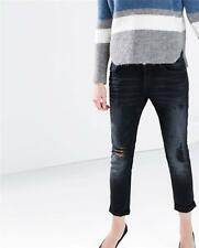 ZARA DARK BLUE BOYFRIEND FIT JEANS SIZE EUR 32/UK 4/USA 0/IT 36 BNWT