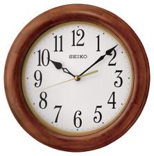 """*BRAND NEW* Seiko 12"""" Round Wood Wall Clock QXA522BLH"""