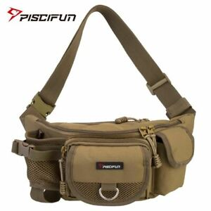 Fishing Bag Multifunctional Outdoor Waist Bag Portable Waist Pack Messenger Bag