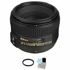 Nikon AF-S Nikkor 50mm f/1.4G Autofocus Lens + UV Filter & Cleaning Kit