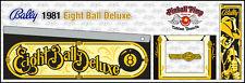 Bally Eight Ball Deluxe PINBALL CABINET STENCILS  • • Pinball Pimp PREMIUM • •