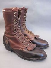 Double H Lacer 10 Inch Packer Work Riding Brown Boot  Men's Size 10.5D