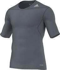adidas Techfit Funktionsshirt Shortsleeve grau D82090 - Gr. XL